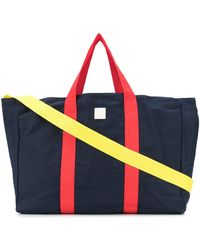 Woolrich Contrast Strap Tote Bag - Blue