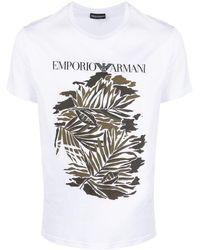 Emporio Armani - Футболка С Логотипом - Lyst