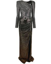 Philipp Plein Vestido largo con detalles de cristales - Multicolor