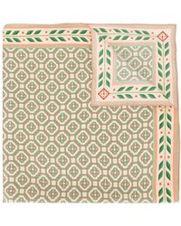 CASABLANCA モノグラム スカーフ - グリーン