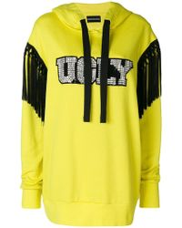 Marco Bologna Ugly Diamante And Tassel Trim Hoody - Yellow