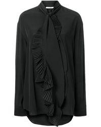 Givenchy ラッフルネック ブラウス - ブラック