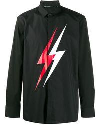 Neil Barrett - Lightning Bolt Shirt - Lyst