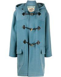 Hermès Duffle-coat à capuche pre-owned - Bleu