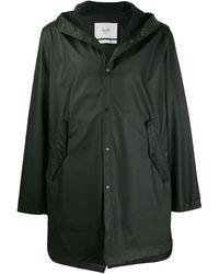 Herschel Supply Co. Long Sleeve Hooded Raincoat - Black