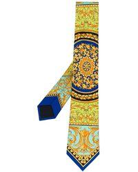 Versace Cravate en soie Le Pop Classique - Vert