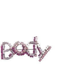 Ermanno Scervino Embellished Body Brooch - Pink
