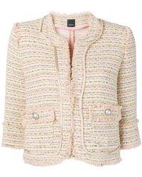 Pinko - 3/4 Sleeve Tweed Jacket - Lyst