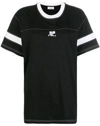 Courreges - Colour Block T-shirt - Lyst