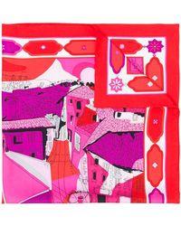 Emilio Pucci Платок С Принтом 'florence' - Красный