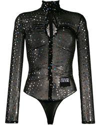 Versace Jeans Couture Декорированное Боди С Вырезом - Черный