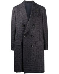 Gabriele Pasini Double-breasted Wool Coat - Blue