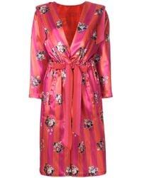 Golden Goose Deluxe Brand - Floral Belted Coat - Lyst