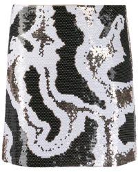 Alberta Ferretti - スパンコール ミニスカート - Lyst