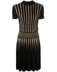 Philipp Plein モックネック ニットドレス - ブラック