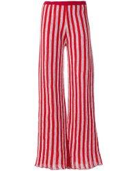 Aviu - Striped Wide Leg Trousers - Lyst