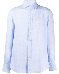 Brunello Cucinelli Рубашка Строгого Кроя - Синий