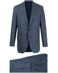 Kiton ツーピース シングルスーツ - ブルー