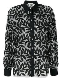 Mantu - Floral Appliqué Shirt - Lyst