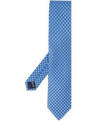 Ferragamo Stropdas Met Patroon - Blauw