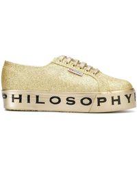 Philosophy Di Lorenzo Serafini Superga Flatform Glitter Sneakers - Metallic