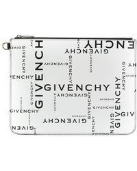 Givenchy Bolso de mano con logo estampado - Negro
