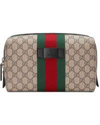 Gucci GG Supreme Toiletry Case - Multicolor