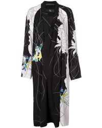 Y's Yohji Yamamoto - Printed Buttoned Coat - Lyst