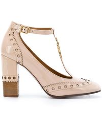 Chloé Perry Court Shoes - Natural