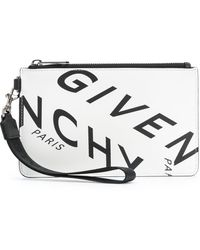 Givenchy ロゴ クラッチバッグ - ホワイト