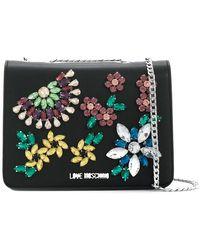 Love Moschino - Crystal Embellished Crossbody Bag - Lyst