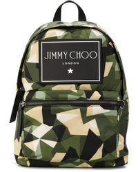 Jimmy Choo Wilmer Sac Dos En Nylon Imprim Camouflage - Vert