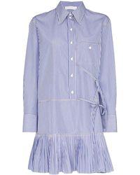 Chloé ストライプ シャツドレス - ブルー