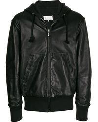 Maison Margiela リバーシブル レザージャケット - ブラック