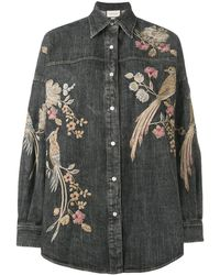 Gucci Embroidered Shirt - Black