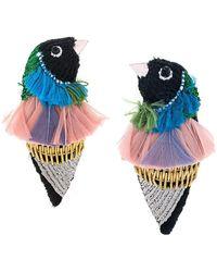 Mignonne Gavigan Finch Bird Earrings - Black