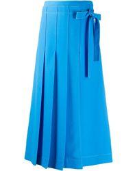 Valentino プリーツ スカート - ブルー