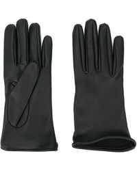 Brunello Cucinelli Plain Leather Gloves - Black