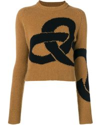 Victoria Beckham Round Neck Sweater - Brown
