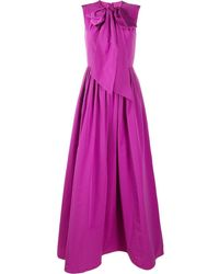 Valentino Платье С Бантом - Пурпурный
