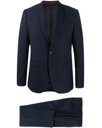 HUGO Check-print Two-piece Suit - Blue
