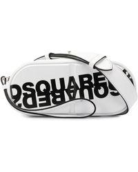 DSquared² Pill Logo Print Belt Bag - White