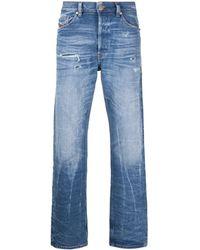 DIESEL D-macs 009mv ストレートジーンズ - ブルー