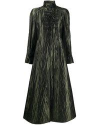 Dior Manteau matelassé en losange - Vert