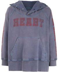 À La Garçonne Heart Sweatshirt À La Garçonne + Hering - Blue
