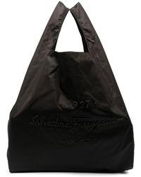 Ferragamo Сумка-тоут С Тисненым Логотипом - Черный