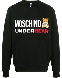 Moschino Sweater Met Print - Zwart