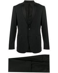 Tonello Costume à détails en satin - Noir