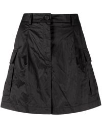 Erika Cavallini Semi Couture ハイライズ ショートパンツ - ブラック