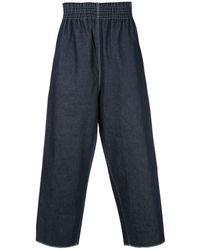 Camiel Fortgens Elasticated Waist Pants - Blue